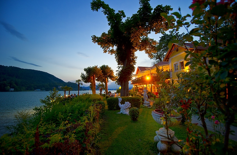 Sonnenuntergang und Kulinarik in Maria Loretto