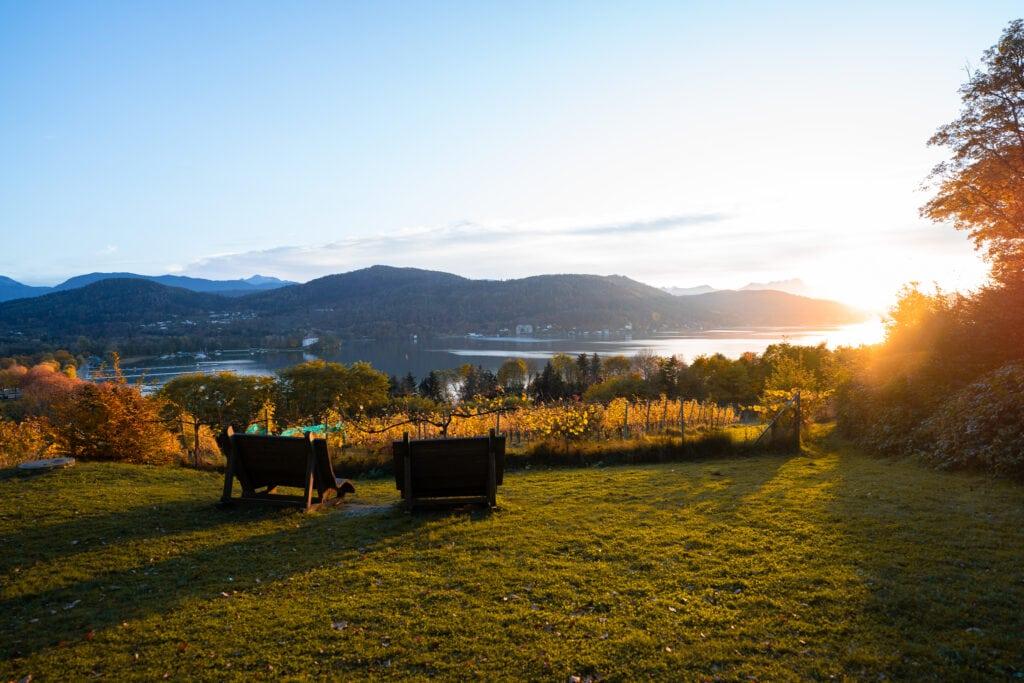 Sonnenuntergang von der Seewiese aus genießen