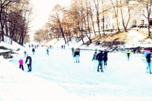 Eislaufen am Lendkanal, Winter, Klagenfurt am Wörthersee, 9020, Wintersport, Outdooraktivitäten