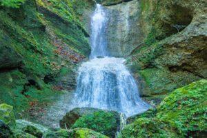 Ebenthaler Wasserfall als Naturschauspiel