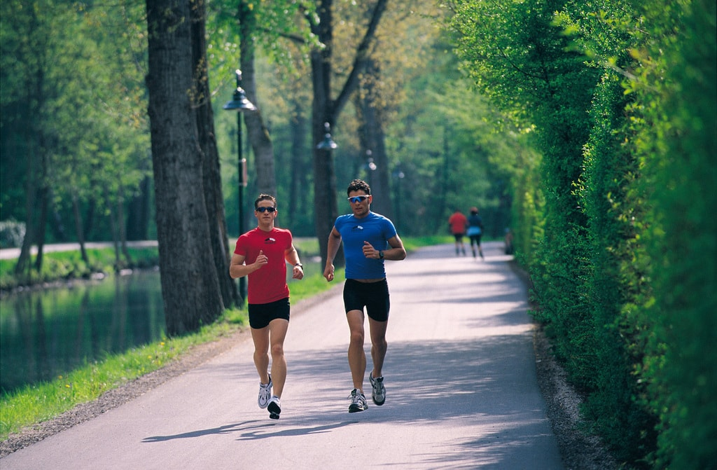 Halbmarathonstrecke entlang der Lend