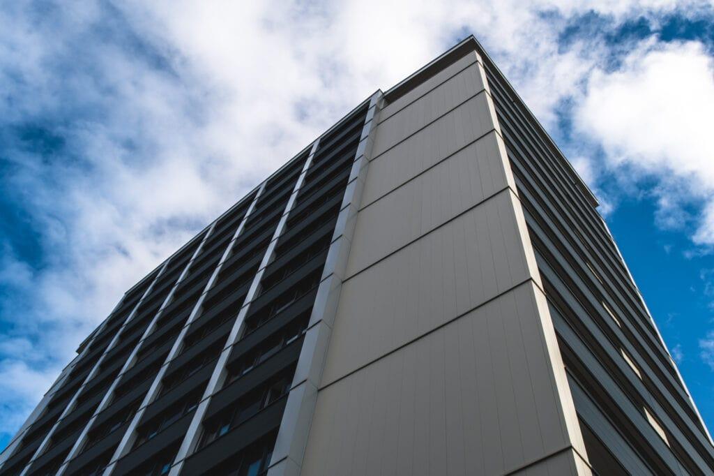 Rothauer Hochhaus, 9020 Klagenfurt am Wörthersee, Archtektur der Moderne, 60er Jahre Bauwerk