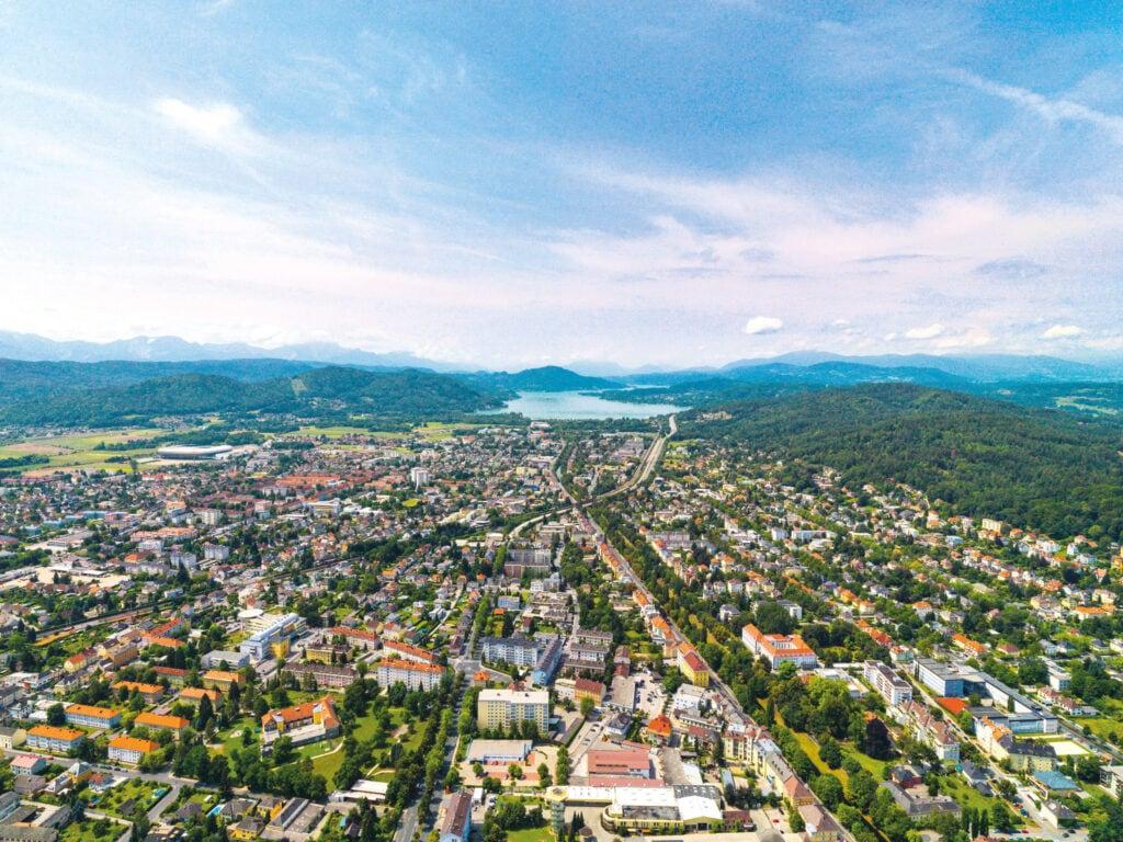 Luftbild Klagenfurt