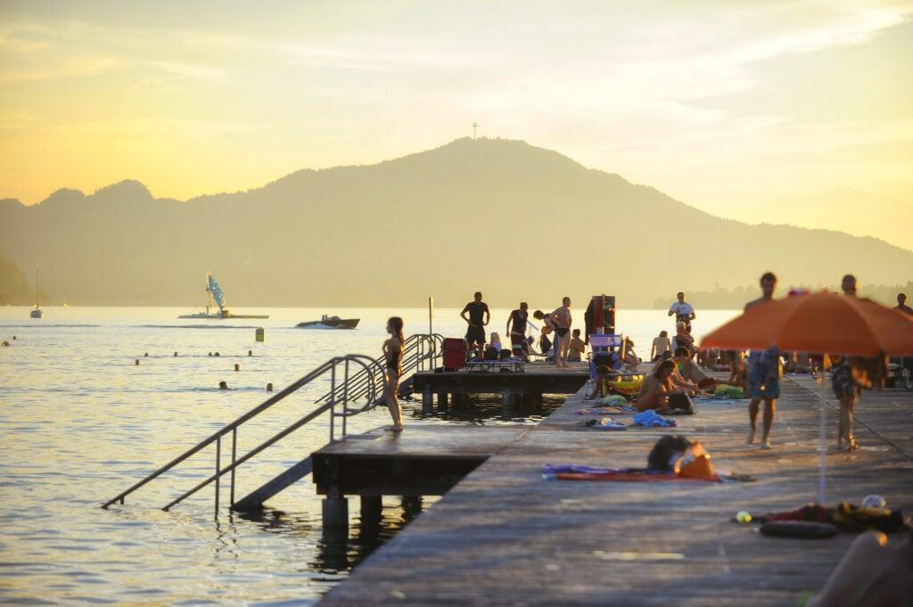 Strandbad Klagenfurt bestens besucht