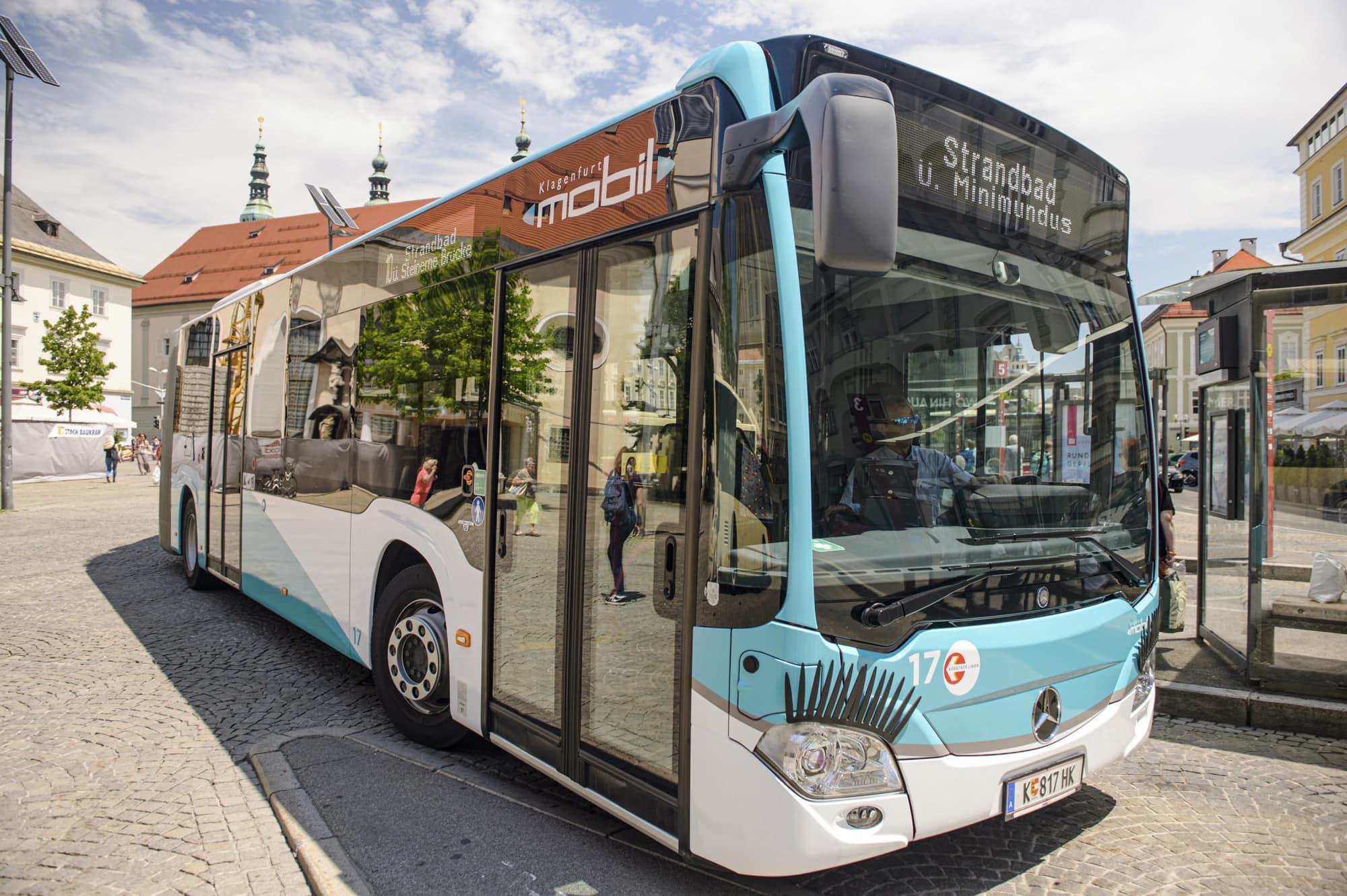 Öffentlicher Verkehr mit Autobus in Klagenfurt