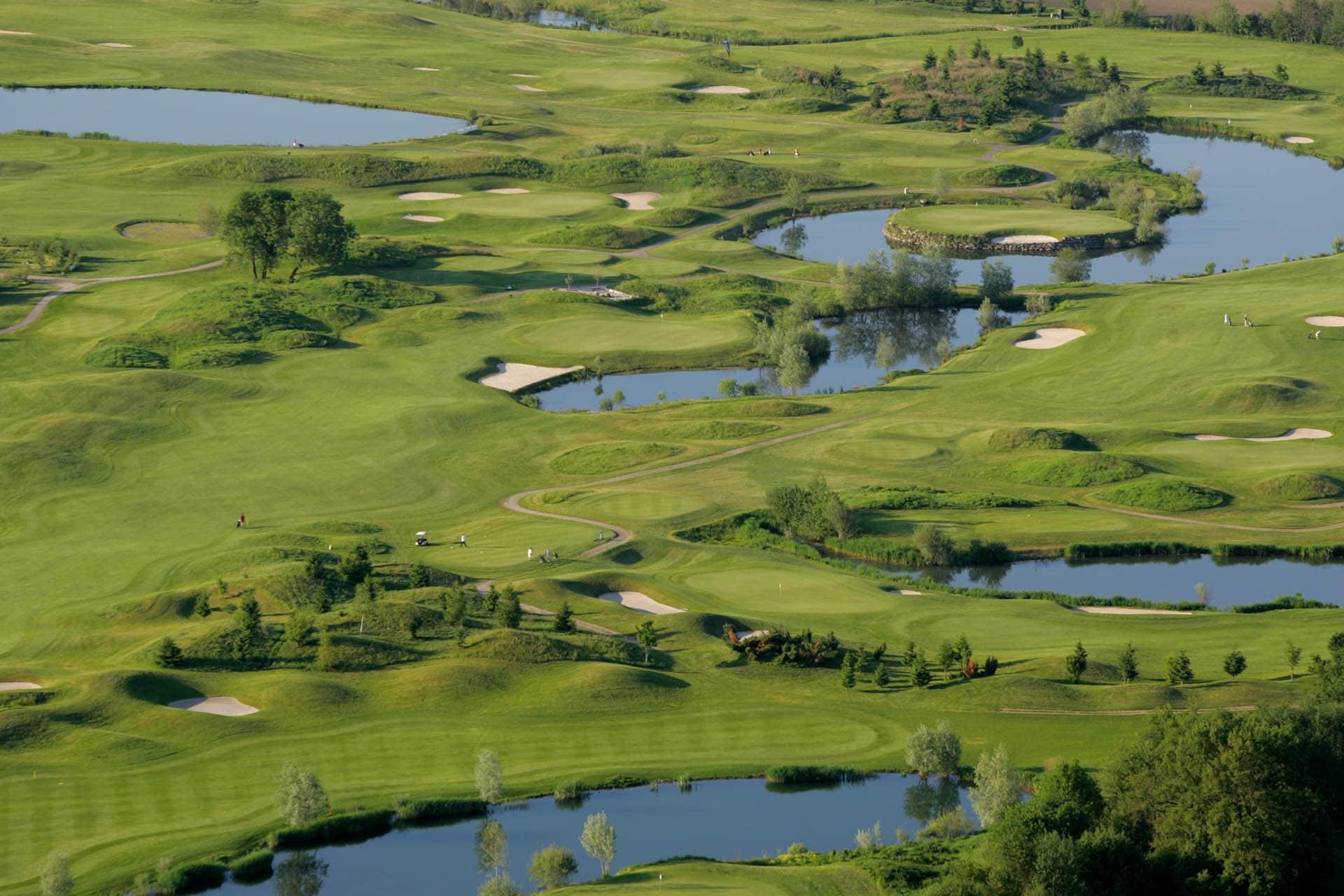Panoramaansicht vom Golfclub Seltenheim