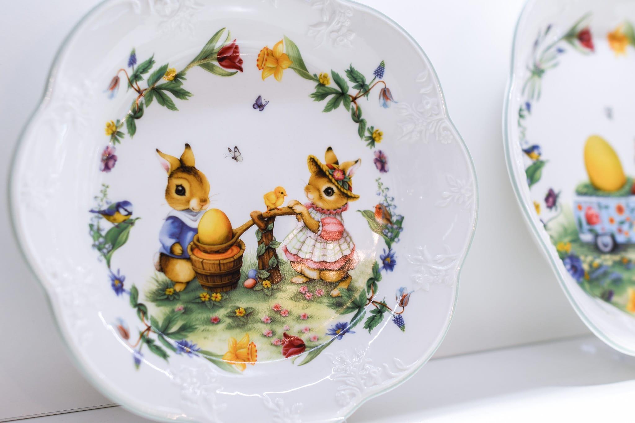 Osterhasenpaar, Ostergeschirr, Teller, Ei, Hase, Ostern, 9020 Klagenfurt am Wörthersee