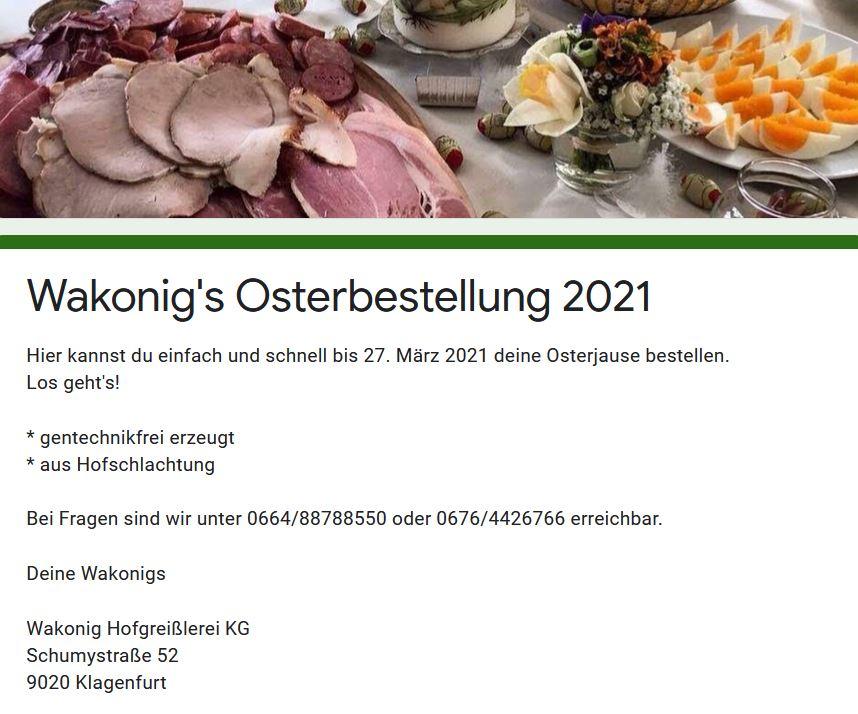 Osterjause bestellen, Ostern, Osterschinken, 9020 Klagenfurt am Wörthersee