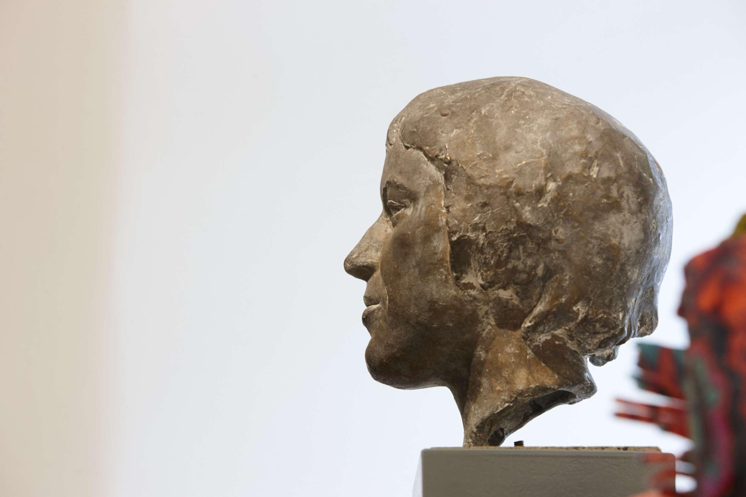 Bronzekopf von Ingeborg Bachmann im Robert-Musil-Literatur-Museum
