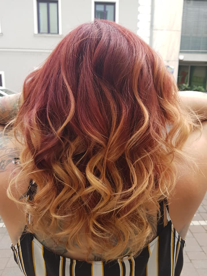 Haarfarbe, Balayage, rot, kupfer, Frisur, Friseur, Frühlingstrends, 9020 Klagenfurt am Wörthersee
