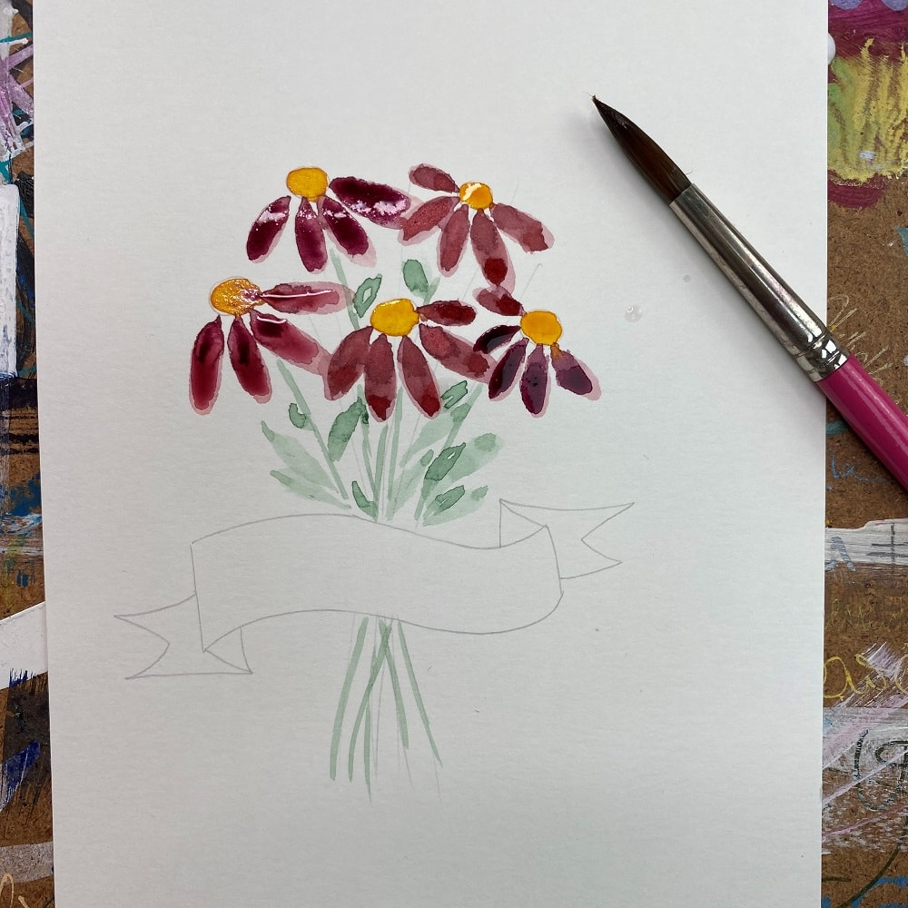 Zeichentutorial, Blumen, Liebste Mama, Aquarell, Muttertag, Muttertag 2021, Geschenkideen, 9020 Klagenfurt am Wörthersee