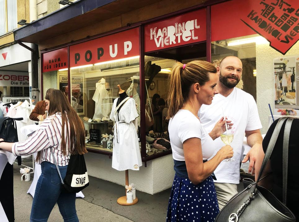Pop-up-Store im Kardinalviertel