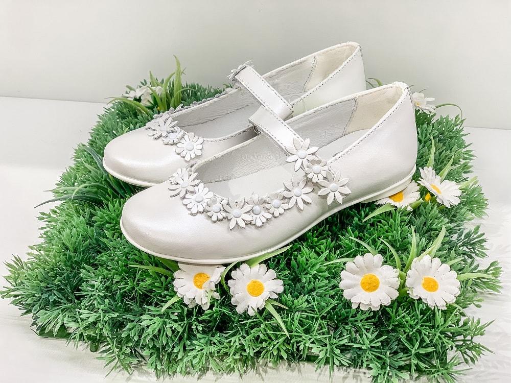 Kommunionsschuhe, Mädchen, weiß, Blumen, Kommunion, Kleidung, 9020 Klagenfurt am Wörthersee