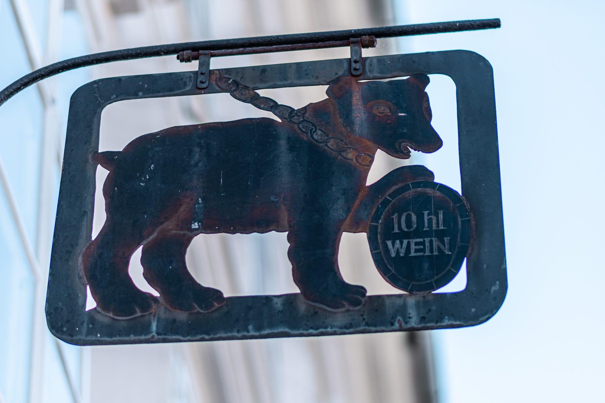 Bärenlaube, Antiquariat, Bär, Tiere in der Stadt, 9020 Klagenfurt am Wörthersee, Sehenswürdigkeiten