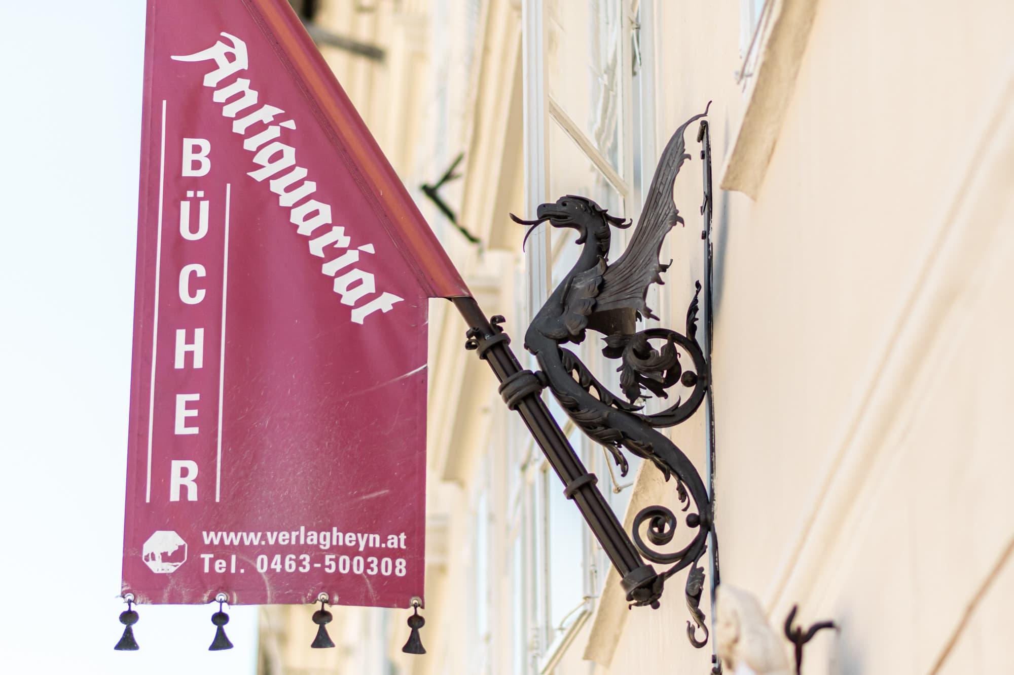 Bärenlaube, Antiquariat, Drache, Tiere in der Stadt, 9020 Klagenfurt am Wörthersee, Sehenswürdigkeiten