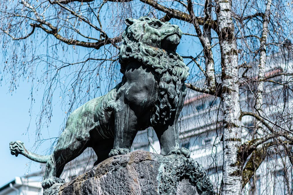 Kriegerdenkmal, Löwe, Steinlöwe, Tiere in der Stadt, 9020 Klagenfurt am Wörthersee, Sehenswürdigkeiten