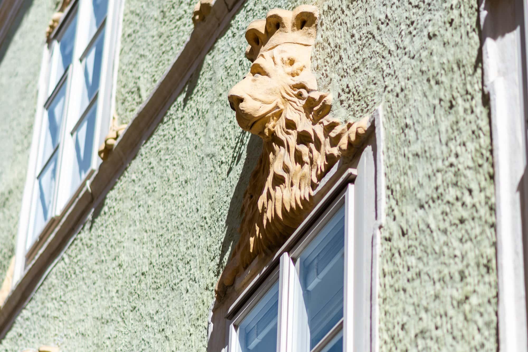 Steinlöwen, Löwenhaus, Tiere in der Stadt, 9020 Klagenfurt am Wörthersee, Sehenswürdigkeiten