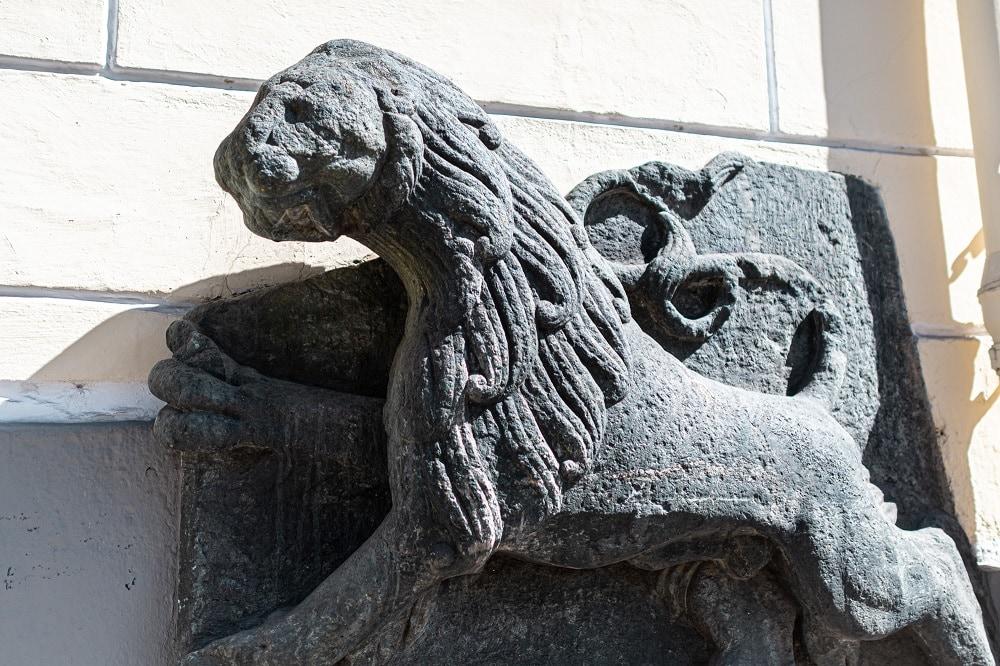 Steinlöwe, Stadtmauer, Stauderplatz, Tiere in der Stadt, 9020 Klagenfurt am Wörthersee, Sehenswürdigkeiten
