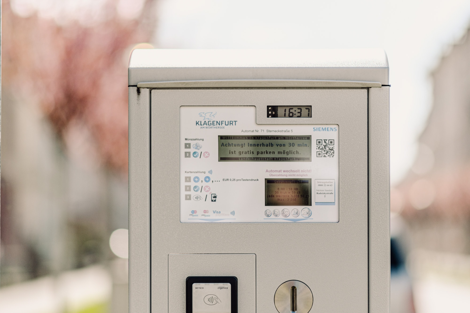Parkscheinautomat, Münzeinwurf, Parken in 9020 Klagenfurt am Wörthersee