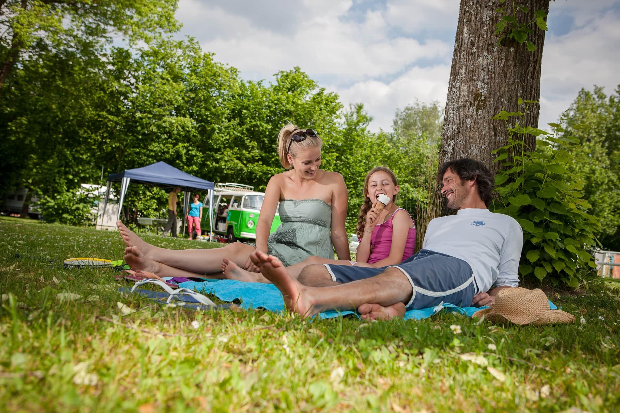 Im Urlaub entspannend campen!
