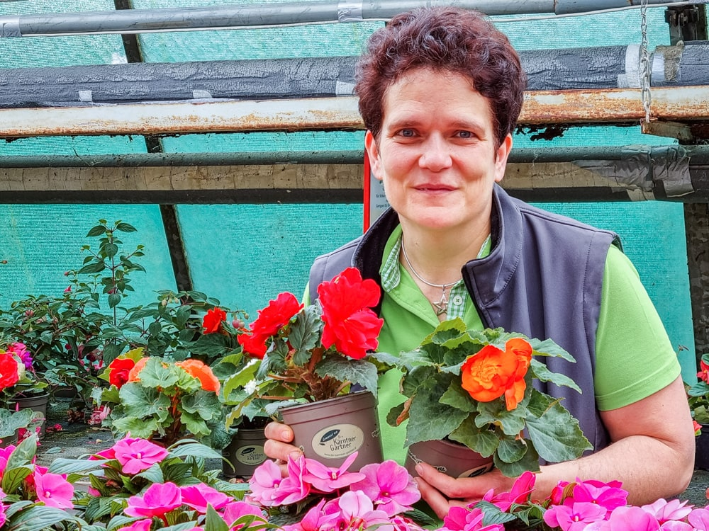 Eva-Maria Wukoutz von der Gärtnerei Wurkoutz