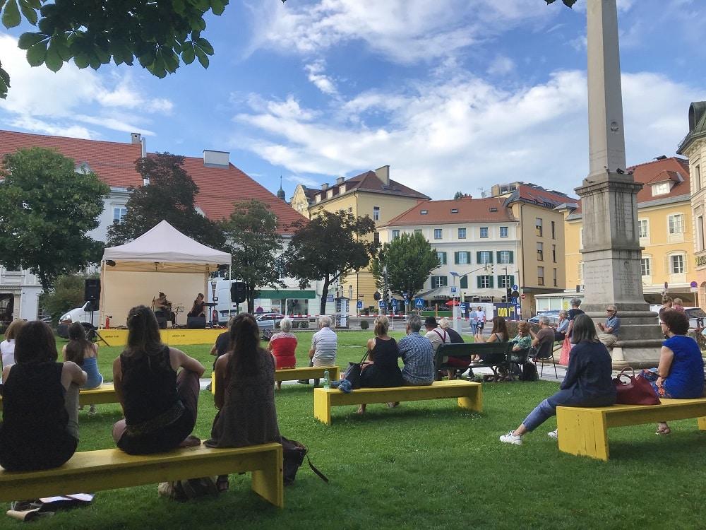 Bachmannpreis, Rahmenprogramm, Salon Inge, Literatur, Musik, Lesungen, 9020 Klagenfurt am Wörthersee, Kardinalplatz