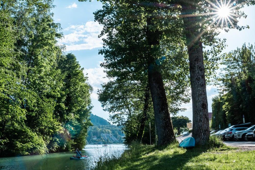Der Landspitz Maria Loretto, wo der Lendkanal in den See mündet, ist für Ingeborg Bachmann ein besonderer Ort.