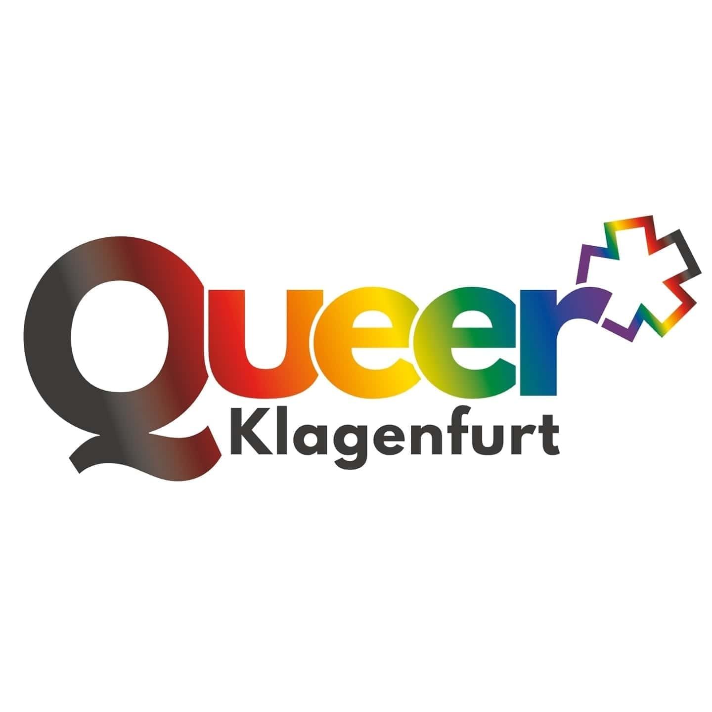 Logo von Queer Klagenfurt in Regenbogenfarben