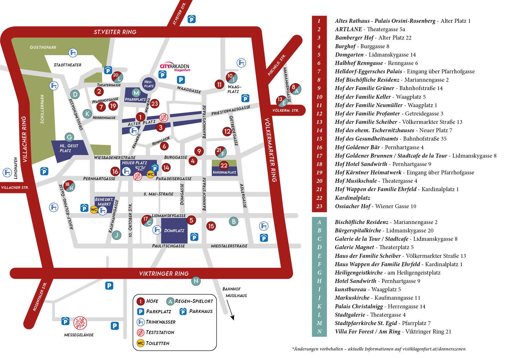 Stadtplan für die Donnerszenen