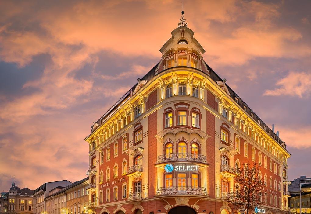 Aussenansicht vom Select Hotel Moser Verdino Klagenfurt (c) Novum Hospitality